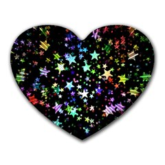 Christmas Star Gloss Lights Light Heart Mousepads by Sapixe