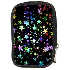 Christmas Star Gloss Lights Light Compact Camera Leather Case