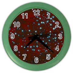 Background Christmas Decoration Color Wall Clock