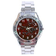 Background Christmas Decoration Stainless Steel Analogue Watch