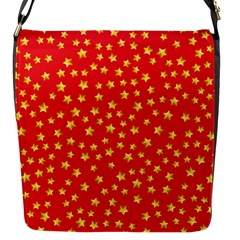 Pattern Stars Multi Color Flap Closure Messenger Bag (s)