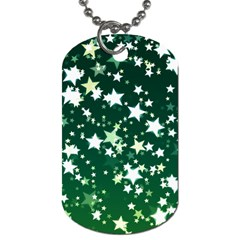 Christmas Star Advent Background Dog Tag (one Side) by Sapixe