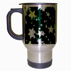 Christmas Star Advent Background Travel Mug (silver Gray) by Sapixe