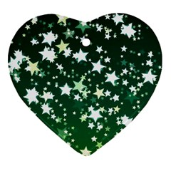 Christmas Star Advent Background Heart Ornament (two Sides) by Sapixe