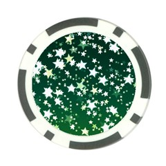 Christmas Star Advent Background Poker Chip Card Guard by Sapixe