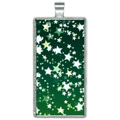 Christmas Star Advent Background Rectangle Necklace
