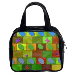 Easter Egg Happy Easter Colorful Classic Handbag (two Sides)