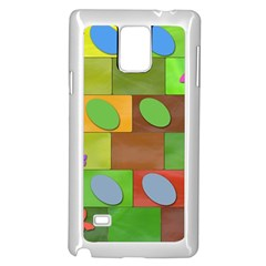Easter Egg Happy Easter Colorful Samsung Galaxy Note 4 Case (white)