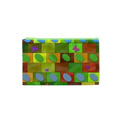 Easter Egg Happy Easter Colorful Cosmetic Bag (xs)