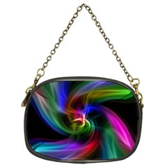 Abstract Art Color Design Lines Chain Purse (two Sides) by Sapixe