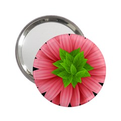 Plant Flower Flowers Design Leaves 2 25  Handbag Mirrors by Sapixe
