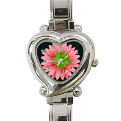 Plant Flower Flowers Design Leaves Heart Italian Charm Watch by Sapixe