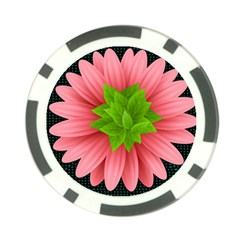 Plant Flower Flowers Design Leaves Poker Chip Card Guard by Sapixe