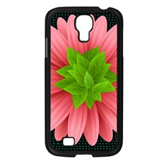 Plant Flower Flowers Design Leaves Samsung Galaxy S4 I9500/ I9505 Case (black) by Sapixe