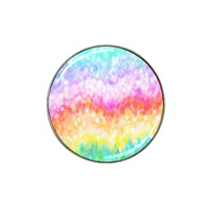 Rainbow Pontilism Background Hat Clip Ball Marker (4 Pack)