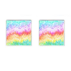 Rainbow Pontilism Background Cufflinks (square) by Sapixe