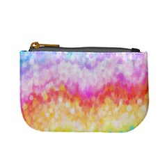 Rainbow Pontilism Background Mini Coin Purse by Sapixe