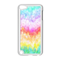 Rainbow Pontilism Background Apple Ipod Touch 5 Case (white)
