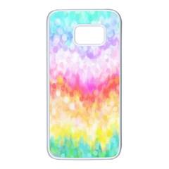 Rainbow Pontilism Background Samsung Galaxy S7 White Seamless Case