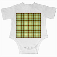 Geometric Tartan Pattern Square Infant Creepers