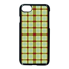 Geometric Tartan Pattern Square Apple Iphone 7 Seamless Case (black) by Sapixe