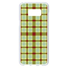 Geometric Tartan Pattern Square Samsung Galaxy S8 Plus White Seamless Case