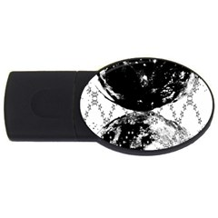 Moon And The Stars Pattern Usb Flash Drive Oval (4 Gb) by flipstylezdes