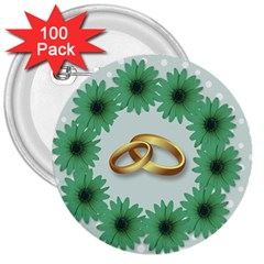 Rings Heart Love Wedding Before 3  Buttons (100 Pack)