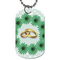 Rings Heart Love Wedding Before Dog Tag (one Side)