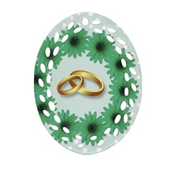 Rings Heart Love Wedding Before Oval Filigree Ornament (two Sides) by Sapixe