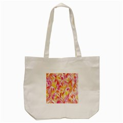 Pretty Painted Pattern Pastel Tote Bag (cream)