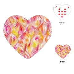 Pretty Painted Pattern Pastel Playing Cards (heart) by Sapixe