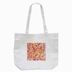 Pretty Painted Pattern Pastel Tote Bag (white)