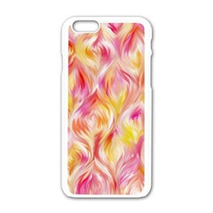 Pretty Painted Pattern Pastel Apple Iphone 6/6s White Enamel Case by Sapixe