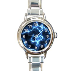 Electricity Blue Brightness Bright Round Italian Charm Watch