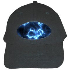 Electricity Blue Brightness Bright Black Cap by Sapixe