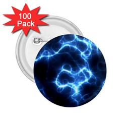 Electricity Blue Brightness Bright 2 25  Buttons (100 Pack)