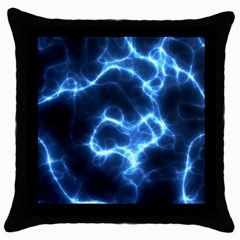 Electricity Blue Brightness Bright Throw Pillow Case (black)