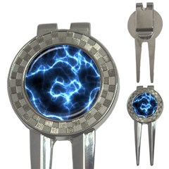 Electricity Blue Brightness Bright 3 In 1 Golf Divots