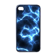 Electricity Blue Brightness Bright Apple Iphone 4 Case (black)