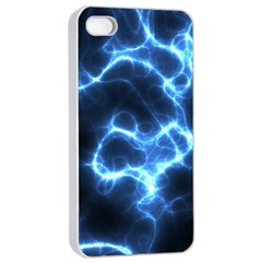 Electricity Blue Brightness Bright Apple Iphone 4/4s Seamless Case (white) by Sapixe