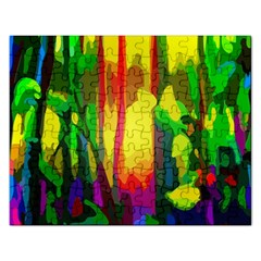Abstract Vibrant Colour Botany Rectangular Jigsaw Puzzl by Sapixe