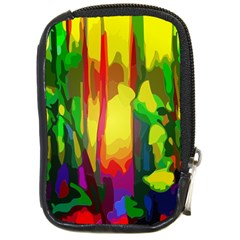 Abstract Vibrant Colour Botany Compact Camera Leather Case