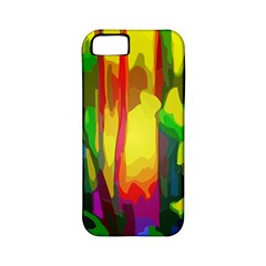 Abstract Vibrant Colour Botany Apple Iphone 5 Classic Hardshell Case (pc+silicone) by Sapixe