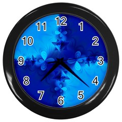 Background Course Gradient Blue Wall Clock (black) by Sapixe