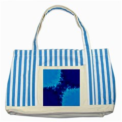 Background Course Gradient Blue Striped Blue Tote Bag by Sapixe