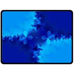 Background Course Gradient Blue Fleece Blanket (large)