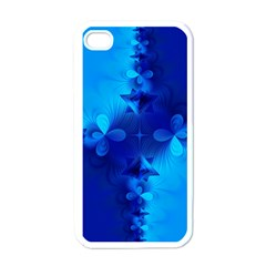 Background Course Gradient Blue Apple Iphone 4 Case (white) by Sapixe