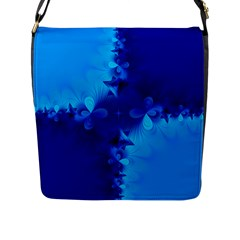 Background Course Gradient Blue Flap Closure Messenger Bag (l)