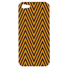Chevron Brown Retro Vintage Apple Iphone 5 Hardshell Case